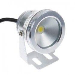 LED projektør 10w, 100% vandtæt - Varm hvid, 700 lumen