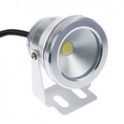 10w.proj.WP: LED projektør 10w, 100% vandtæt - Varm hvid, 700 lumen