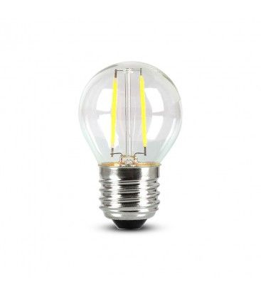 V-Tac 4W LED kronepære - Samsung LED chip, G45, Kultråd, E27