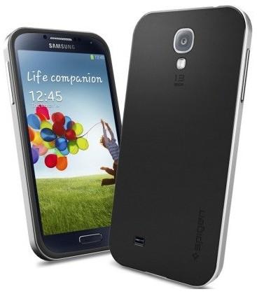 Samsung Galaxy S4 Neo Hybrid cover sølv