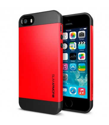 Iphone 5 cover, SPIGEN slim Armor, red