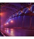 V-Tac 10W LED projektør RGB - Med infrarød fjernbetjening, udendørs