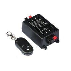 LED Strips Trådløs dæmper med fjernbetjening - RF trådløs, memory funktion, 12V/24V (96W / 192W)