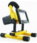 LED projektør 10w 12v - Transportabel Genopladelig