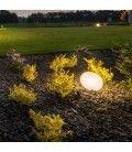V-Tac RGB LED sten - Genopladelig, med fjernbetjening, 28x21x17 cm