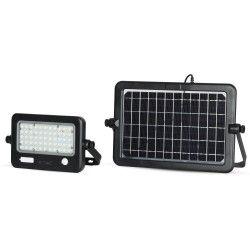 LED Projektør V-Tac 10W LED Solcelle projektør - Solcelle medfølger, indbygget batteri, med sensor, udendørs