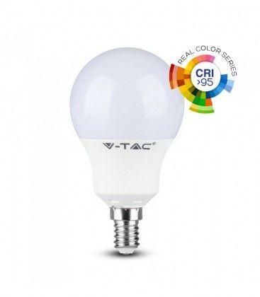 V-Tac 5,5W LED pære - P45, E14, RA 95