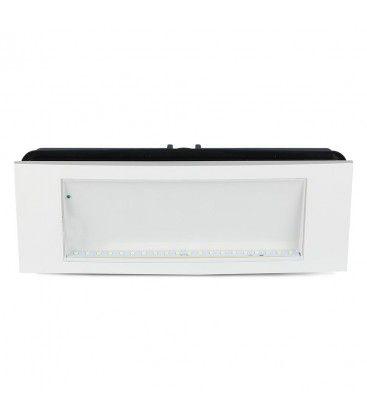 V-Tac 4W LED nødbelysning - Til væg/loft/undersænket montering, 110 lumen, inkl. batteri og piktogrammer
