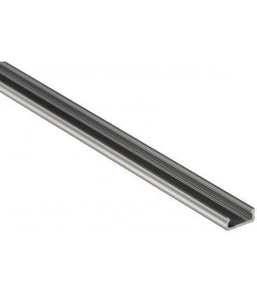 Aluprofil Type D til indendørs IP21 LED strip - Lav, 1 meter, ubehandlet aluminium, vælg cover