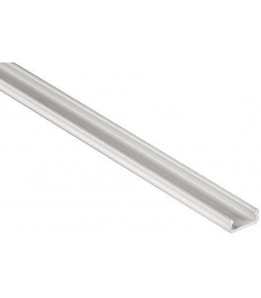 Aluprofil Type D til indendørs IP21 LED strip - Lav, 1 meter, hvid, vælg cover