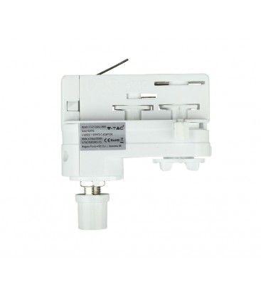 Lampeholder til Global skinner - Hvid, Passer til V-Tac skinner, 3-faset
