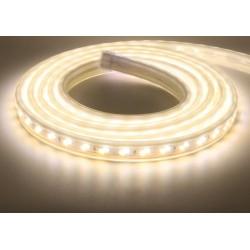 230V varm til kold 5 meter vandtæt CCT LED strip - 230V, IP67, 120 LED, 14W/m, Justerbar kulør