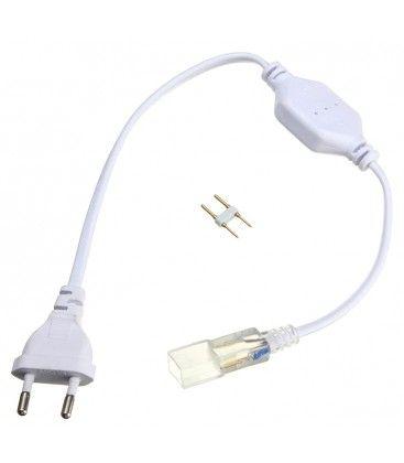 Stik til 230V LED strip (Type Q) - Inkl. endeprop, 230V