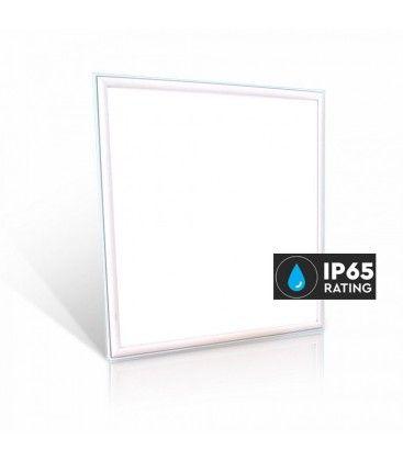 LED Panel 60x60 - 40W, 4400lm, IP65 vandtæt, hvid kant