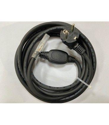 Stik til 230V LED strip (Type Q), IP67 vandtæt - Inkl. endeprop, 1m, 230V