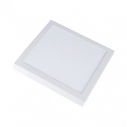 Loftslamper V-Tac 12W LED loftslampe - 14 x 14cm, Højde: 2,4cm, hvid kant, inkl. lyskilde