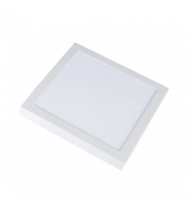 V-Tac 12W LED loftslampe - 14 x 14cm, Højde: 2,4cm, hvid kant, inkl. lyskilde