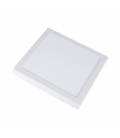 V-Tac 18W LED loftslampe - 19 x 19cm, Højde: 2,4cm, hvid kant, inkl. lyskilde