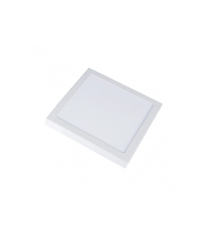 V Tac 18W LED loftslampe 19 x 19cm, Højde: 2,4cm, hvid kant, inkl. lyskilde