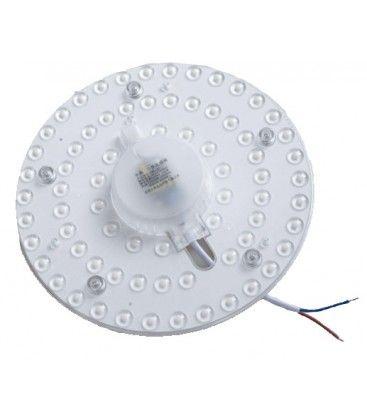 12W LED indsats med linser, flicker free - Ø12,5 cm, erstat G24, cirkelrør og kompaktrør