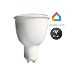 Smart Home pærer V-Tac 4,5W Smart Home LED spot - Virker med Google Home, Alexa og smartphones, 230V, GU10