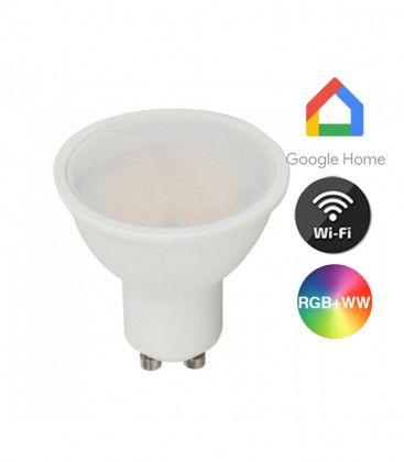 V-Tac 5W Smart Home LED pære - Virker med Google Home, Alexa og smartphones, GU10 Spot