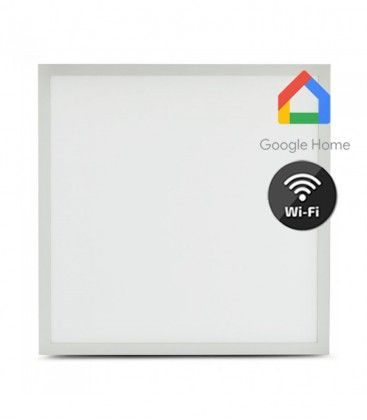 60x60 40W Smart Home LED panel - Virker med Google Home, Alexa og smartphones, hvid kant
