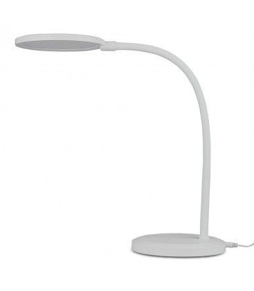 V-Tac 7W bordlampe hvid - Trinløs dæmpning, fleksibel arm
