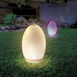 Havelamper V-Tac RGB+W LED æg - Solcelle, Ø18,8 cm