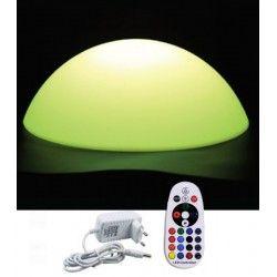 Havelamper V-Tac RGB LED halvkugle - Genopladelig, med fjernbetjening, Ø50 cm