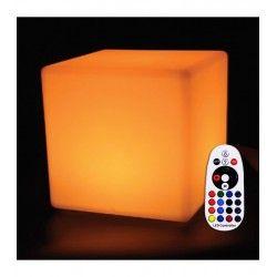 Lamper V-Tac RGB LED firkant - Genopladelig, med fjernbetjening, 40x40 cm