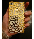 Iphone 5 cover, Swirl Floral Guld