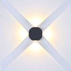 Væglamper V-Tac 4W LED sort væglampe - Rund, IP65 udendørs, 230V, inkl. lyskilde