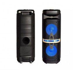Trådløs Party Højttaler Partyhøjtaler på hjul - 120W, genopladelig, Bluetooth, diskolys, inkl. mikrofon