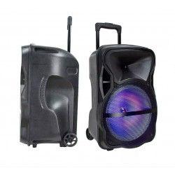 Trådløs Party Højttaler Partyhøjtaler på hjul - 35W, genopladelig, Bluetooth, RGB, inkl. mikrofon