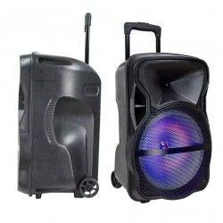 Trådløs Party Højttaler Partyhøjtaler på hjul - 50W, genopladelig, Bluetooth, RGB, inkl. mikrofon