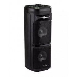 Trådløs Party Højttaler Partyhøjtaler på hjul - 30W, genopladelig, Bluetooth, RGB, inkl. mikrofon