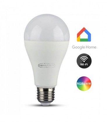 V-Tac 15W Smart Home LED pære - Virker med Google Home, Alexa og smartphones, E27
