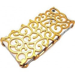 iphone5.cover.swirl.gold: Iphone 5 cover, Swirl Floral Guld