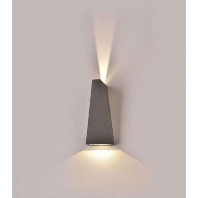 V-Tac 6W LED grå væglampe - IP65 udendørs, 230V, inkl. lyskilde - Kulør : Varm, Dæmpbar : Ikke dæmpbar