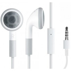 Headset in-ear hvid