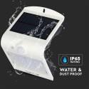 Restsalg: V-Tac 1,5W LED væglampe med solcelle og sensor - IP65 udendørs, inkl. lyskilde