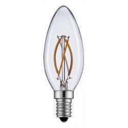 E14 Lille fatning 2W LED kertepære - Kultråd, varm hvid, E14