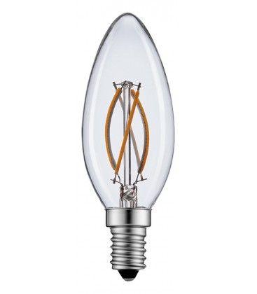 2W LED kertepære - Kultråd, varm hvid, E14