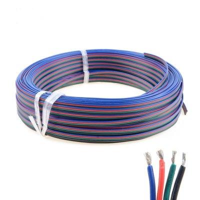 Billede af 12-24V RGB kabel - 4x0,5mm², metervare, min. 5 meter