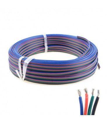 12-24V RGB kabel - 4 x 0,5 mm², metervare, min. 5 meter