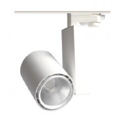 Skinnespots LED Restsalg: LEDlife hvid skinnespot 25W - Flicker free, 110lm/w, RA80, 3-faset