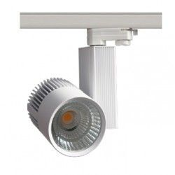 Skinnespots LED LEDlife hvid skinnespot 30W - Philips COB, Flicker free, RA90, 3-faset