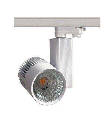 LEDlife hvid skinnespot 30W - Philips COB, Flicker free, RA90, 3-faset