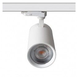 Lamper LEDlife hvid skinnespot 30W - Flicker free, Citizen LED, RA90, 3-faset